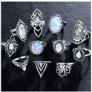 11 OPAL STACKABLE MIDI RING NGS